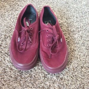 Gently Used Maroon Vans